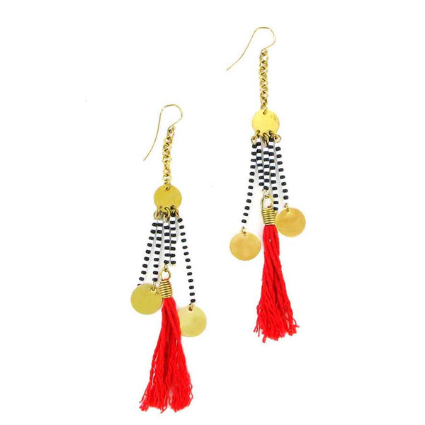 Tassel beaded earrings
