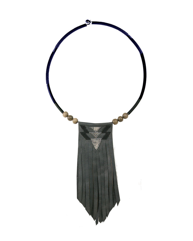 Yasmine Grey torque necklace