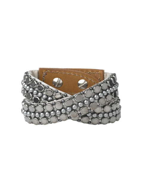 Bernadette Double Wrap Cuff Oxidised