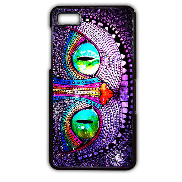 Alice Wonderland Cheshire Galaxy Nebula Purple TATUM-546 Blackberry Phonecase Cover For Blackberry Q10, Blackberry Z10 - tatumcase