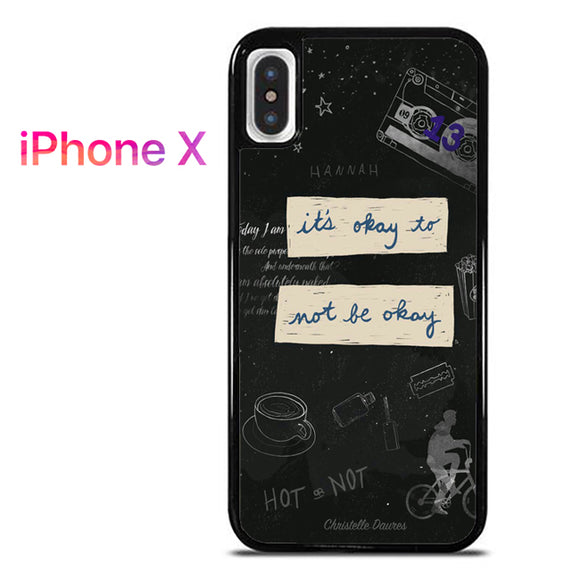 13 Reasons Why Quotes AB - iPhone X Case - Tatumcase