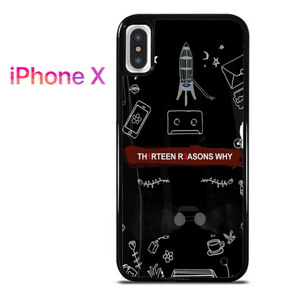 13 Reasons Why Things AB - iPhone X Case - Tatumcase