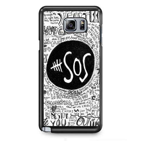 5 Second Of Summer The Music Band TATUM-68 Samsung Phonecase Cover Samsung Galaxy Note 2 Note 3 Note 4 Note 5 Note Edge