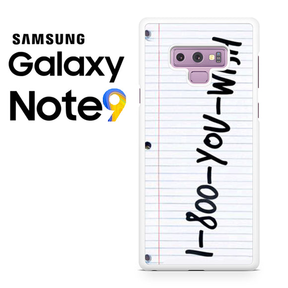 1 800 you wish Z - Samsung Galaxy NOTE 9 Case - Tatumcase