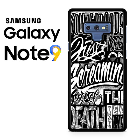 21 Pilots Songs - Samsung Galaxy NOTE 9 Case - Tatumcase