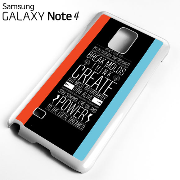 21 pilots band quotes - Samsung Galaxy Note 4 Case - Tatumcase