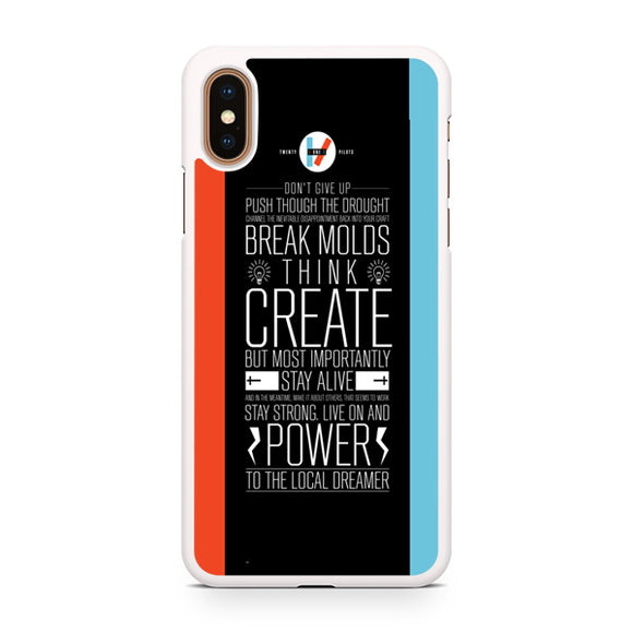 21 pilots band quotes, Custom Phone Case, iPhone Case, iPhone XS Case