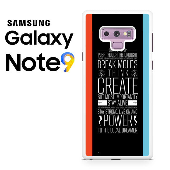 21 pilots band quotes - Samsung Galaxy NOTE 9 Case - Tatumcase