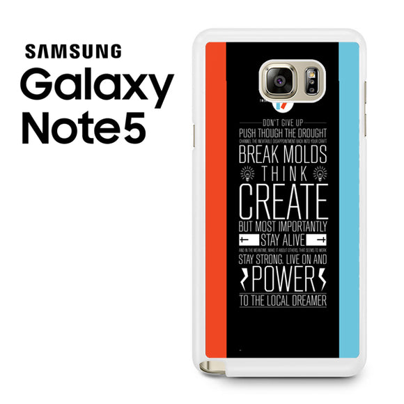 21 pilots band quotes - Samsung Galaxy Note 5 Case - Tatumcase