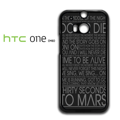 30 Seconds To Mars Lyric - HTC M8 Case - Tatumcase