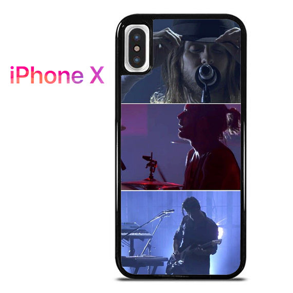 30 Seconds To Mars On Stage - iPhone X Case - Tatumcase
