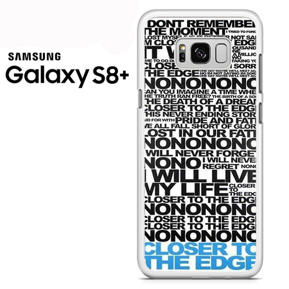 30 Seconds To Mars Song Lyrics - Samsung Galaxy S8 Plus Case - Tatumcase