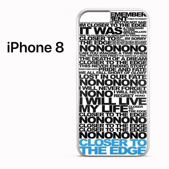 30 Seconds To Mars Song Lyrics - iPhone 8 Case - Tatumcase