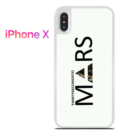 30 Seconds to Mars Logo 2 - iPhone X Case - Tatumcase