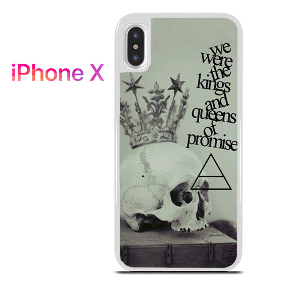 30 Seconds to Mars Lyrics 2 - iPhone X Case - Tatumcase