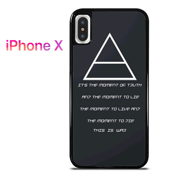 30 Seconds to Mars QuotesYD - iPhone X Case - Tatumcase
