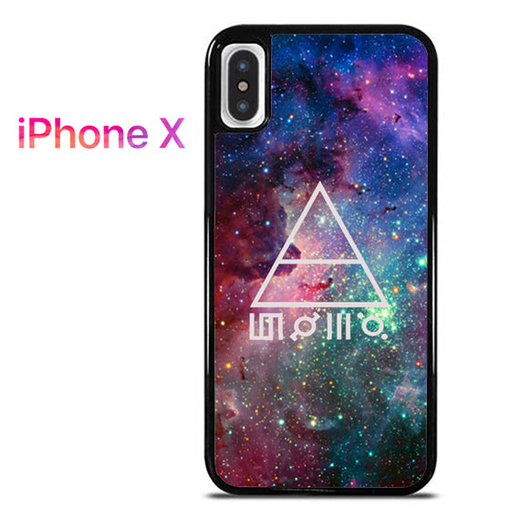 30 seconds to mars galaxy - iPhone X Case - Tatumcase