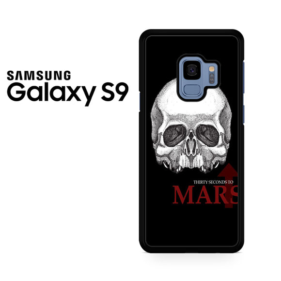 30 seconds to mars skull logo - Samsung Galaxy S9 Case - Tatumcase