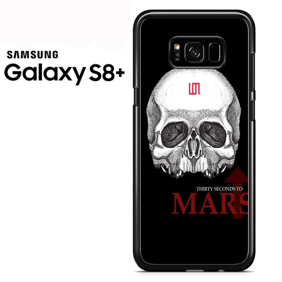 30 seconds to mars skull logo - Samsung Galaxy S8 Plus Case - Tatumcase