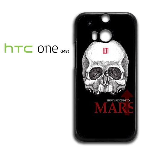 30 seconds to mars skull logo - HTC M8 Case - Tatumcase