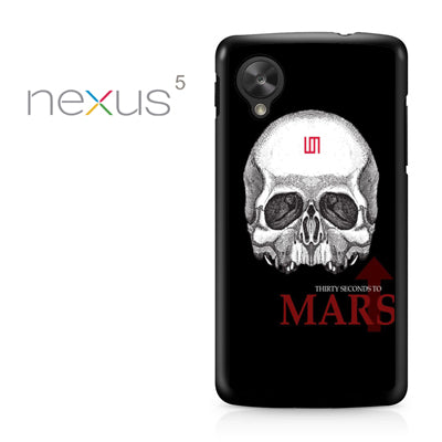 30 seconds to mars skull logo - Nexus 5 Case - Tatumcase