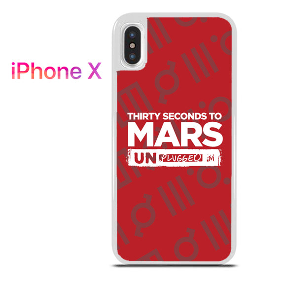30 seconds to mars unplugged - iPhone X Case - Tatumcase