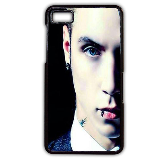 Andy Biersack Black Veil Brides Half Face TATUM-765 Blackberry Phonecase Cover For Blackberry Q10, Blackberry Z10