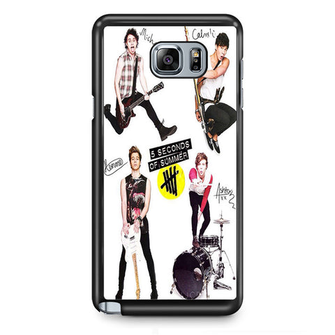 5 Seconds Of Summer 5sos Ashton Irwin Calum Hood Favim TATUM-70 Samsung Phonecase Cover Samsung Galaxy Note 2 Note 3 Note 4 Note 5 Note Edge
