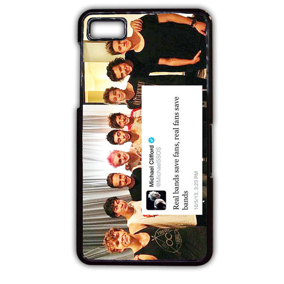 5sos And One Direction Fan Twit TATUM-143 Blackberry Phonecase Cover For Blackberry Q10, Blackberry Z10 - tatumcase