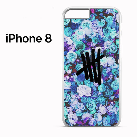 5 SOS Blue Flower - iPhone 8 Case - Tatumcase