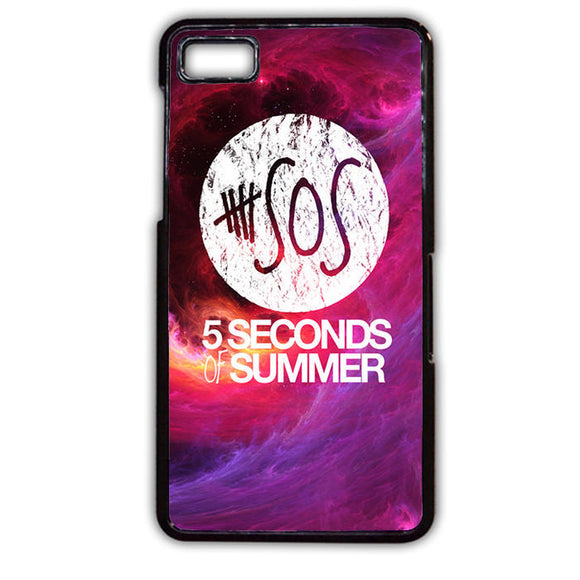 5 SOS Seconds Of Summer Purple Space Galaxy Blackberry Phonecase For Blackberry Q10 Blackberry Z10 - tatumcase