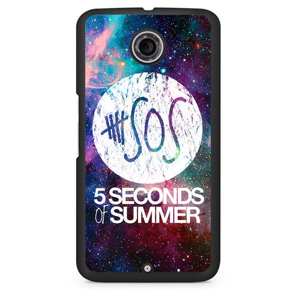 5 Second of Summer Logo Galaxy Nebula TATUM-66 Google Phonecase Cover For Nexus 4, Nexus 5, Nexus 6 - tatumcase