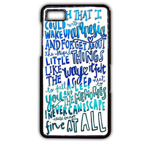 5 Seconds Of Summer Lyrics Amnesia 5SOS TATUM-99 Blackberry Phonecase Cover For Blackberry Q10, Blackberry Z10 - tatumcase
