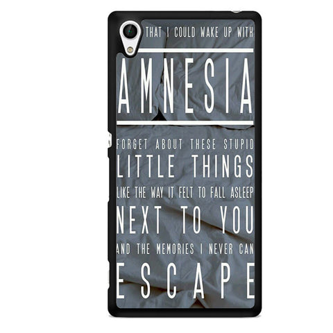 5 Seconds Of Summer Amnesia TATUM-74 Sony Phonecase Cover For Xperia Z1, Xperia Z2, Xperia Z3, Xperia Z4, Xperia Z5