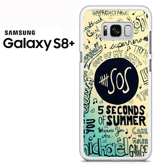 5 Seconds of summer poster art - Samsung Galaxy S8 Plus Case - Tatumcase