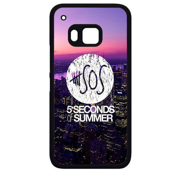 5 Seconds Of Summer City Logo CoolPhonecase Cover Case For HTC One M7 HTC One M8 HTC One M9 HTC ONe X - tatumcase