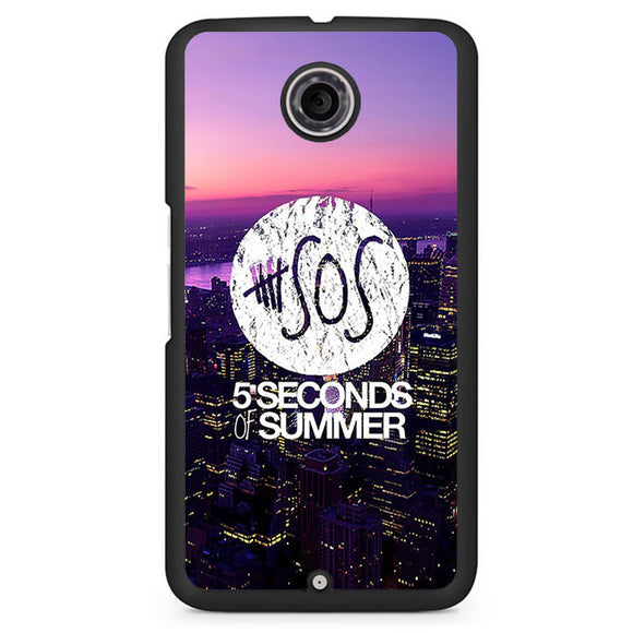 5 Seconds Of Summer City Logo Cool Band TATUM-81 Google Phonecase Cover For Nexus 4, Nexus 5, Nexus 6 - tatumcase