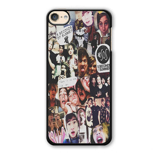 5 Sos Collage Phonecase Cover Case For Apple Ipod 4 Ipod 5 Ipod 6 - tatumcase