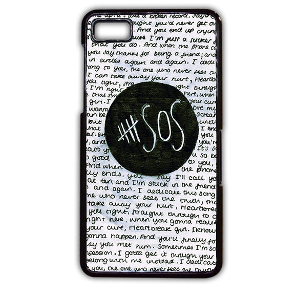 5 Seconds Of Summer Band Quotes TATUM-79 Blackberry Phonecase Cover For Blackberry Q10, Blackberry Z10 - tatumcase