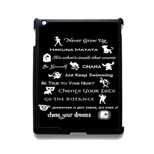 Never Grow Up Peter Pan Tatum 7643 Apple Phonecase Cover For Ipad 2