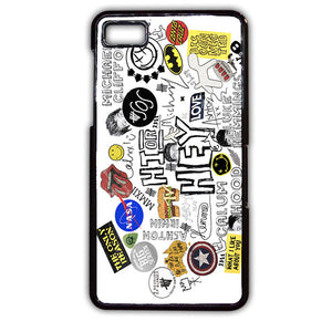 5 Sos Art Collage TATUM-114 Blackberry Phonecase Cover For Blackberry Q10, Blackberry Z10 - tatumcase