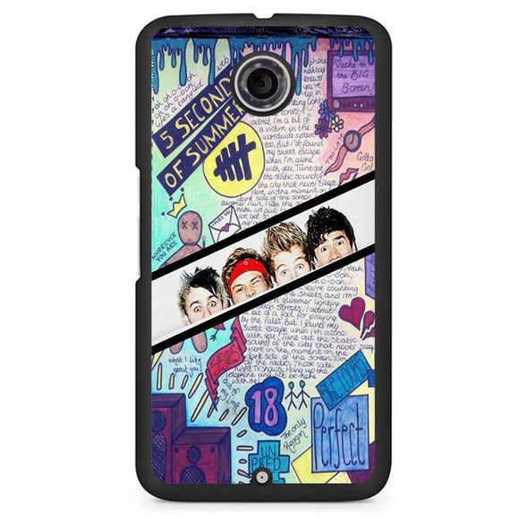 5 Seconds Of Summer Background TATUM-77 Google Phonecase Cover For Nexus 4, Nexus 5, Nexus 6 - tatumcase