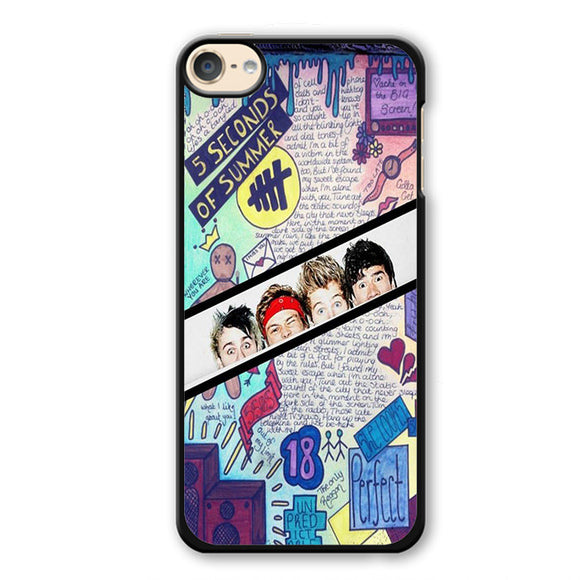 5 Seconds Of Summer Background TATUM-77 Apple Phonecase Cover For Ipod Touch 4, Ipod Touch 5, Ipod Touch 6 - tatumcase