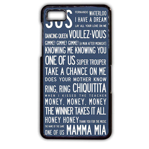 Abba Quote TATUM-199 Blackberry Phonecase Cover For Blackberry Q10, Blackberry Z10 - tatumcase