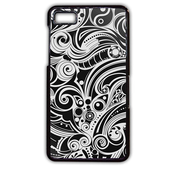 Abstract Black And White TATUM-222 Blackberry Phonecase Cover For Blackberry Q10, Blackberry Z10 - tatumcase