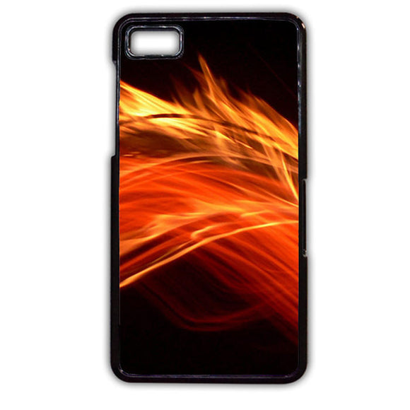 Abstract Fire Abstract Black Fire TATUM-224 Blackberry Phonecase Cover For Blackberry Q10, Blackberry Z10 - tatumcase