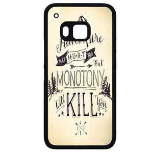Adventure May Hurt YouPhonecase Cover Case For HTC One M7 HTC One M8 HTC One M9 HTC ONe X - tatumcase