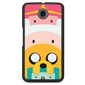 Adventure Time Cute Characters Phonecase Cover Case For Google Nexus 4 Nexus 5 Nexus 6 - tatumcase