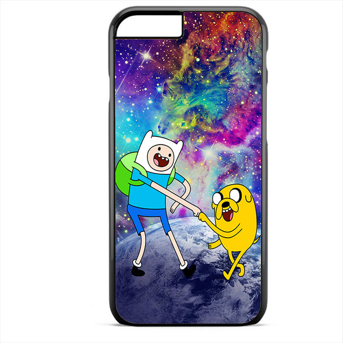 Adventure Time Jake And Finn Nebula Space Phonecase For Iphone 4/4S Iphone 5/5S Iphone 5C Iphone 6 Iphone 6S Iphone 6 Plus Iphone 6S Plus