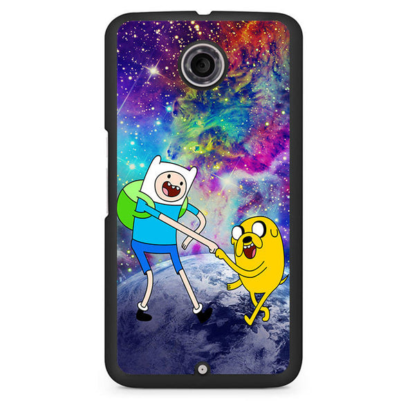 Adventure Time Jake And Finn Nebula Space Phonecase Cover Case For Google Nexus 4 Nexus 5 Nexus 6 - tatumcase
